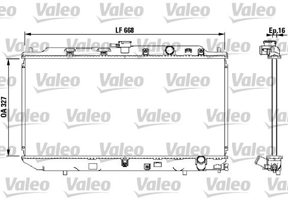 Radiateur, refroidissement du moteur - VALEO - 819193