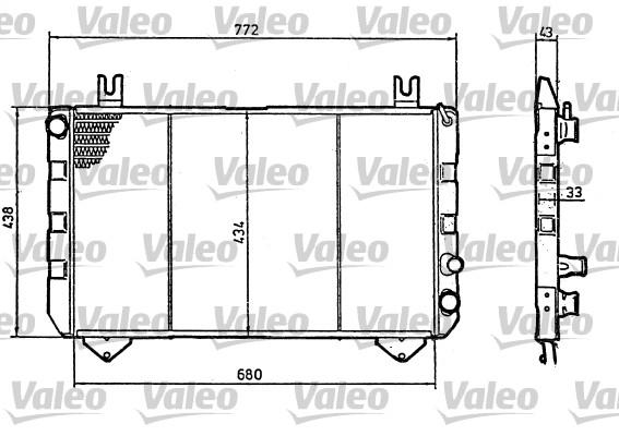 Radiateur, refroidissement du moteur - VALEO - 819320