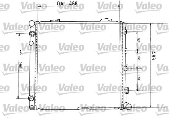 Radiateur, refroidissement du moteur - VALEO - 819373