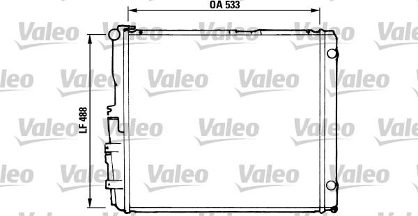 Radiateur, refroidissement du moteur - VALEO - 819377