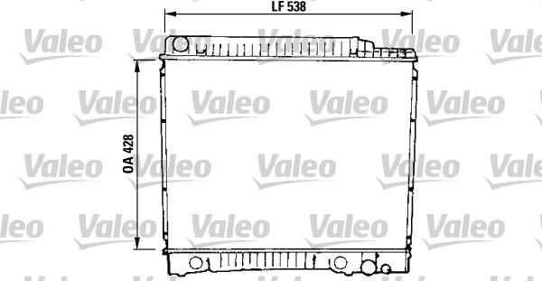Radiateur, refroidissement du moteur - VALEO - 819379