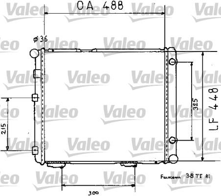Radiateur, refroidissement du moteur - VALEO - 819383