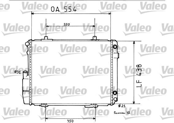 Radiateur, refroidissement du moteur - VALEO - 819384