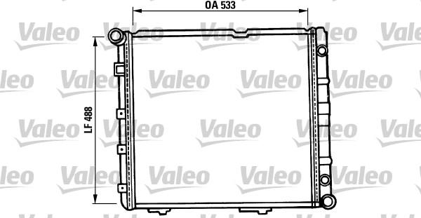 Radiateur, refroidissement du moteur - VALEO - 819387