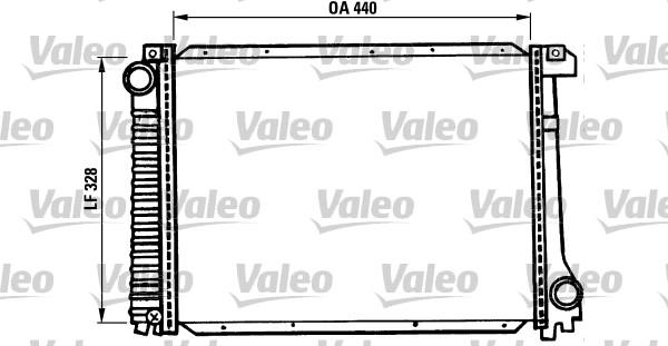 Radiateur, refroidissement du moteur - VALEO - 819397