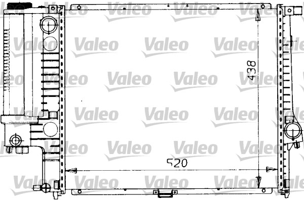 Radiateur, refroidissement du moteur - VALEO - 819412