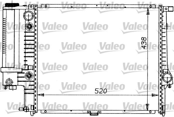 Radiateur, refroidissement du moteur - VALEO - 819413