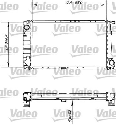 Radiateur, refroidissement du moteur - VALEO - 819414