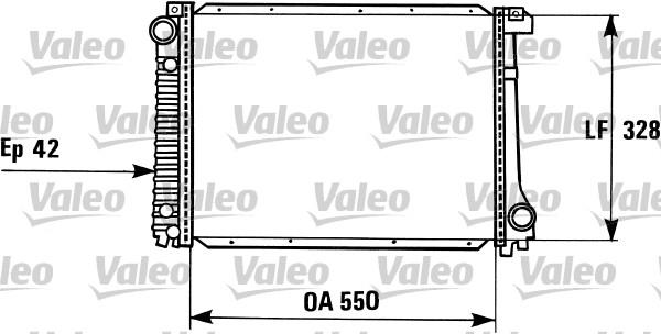 Radiateur, refroidissement du moteur - VALEO - 819415