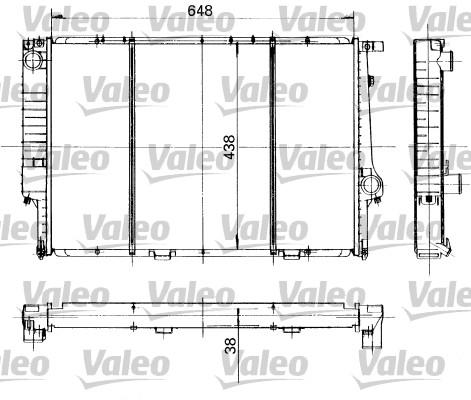 Radiateur, refroidissement du moteur - VALEO - 819418