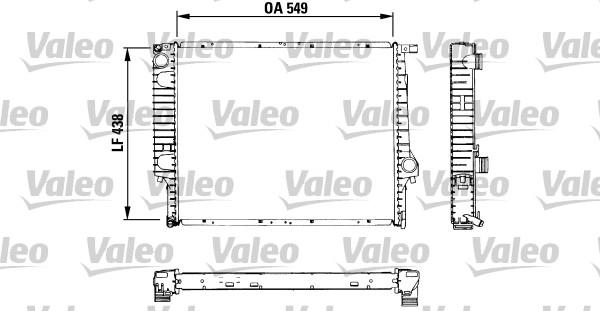 Radiateur, refroidissement du moteur - VALEO - 819422