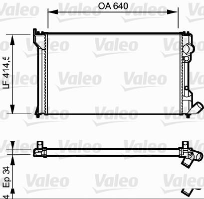 Radiateur, refroidissement du moteur - VALEO - 819428