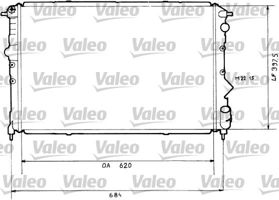 Radiateur, refroidissement du moteur - VALEO - 819431