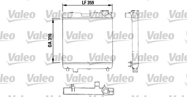 Radiateur, refroidissement du moteur - VALEO - 883053