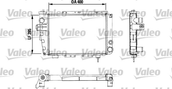 Radiateur, refroidissement du moteur - VALEO - 883282