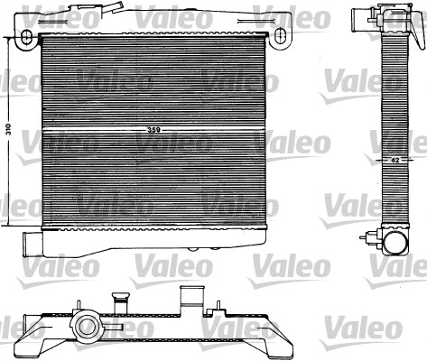 Radiateur, refroidissement du moteur - VALEO - 883428
