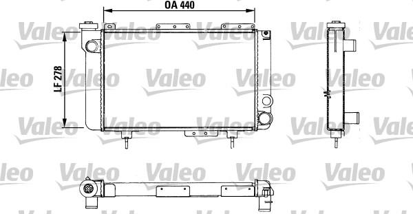 Radiateur, refroidissement du moteur - VALEO - 883463