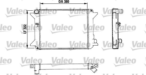 Radiateur, refroidissement du moteur - VALEO - 883464