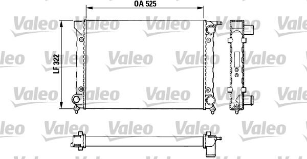 Radiateur, refroidissement du moteur - VALEO - 883727