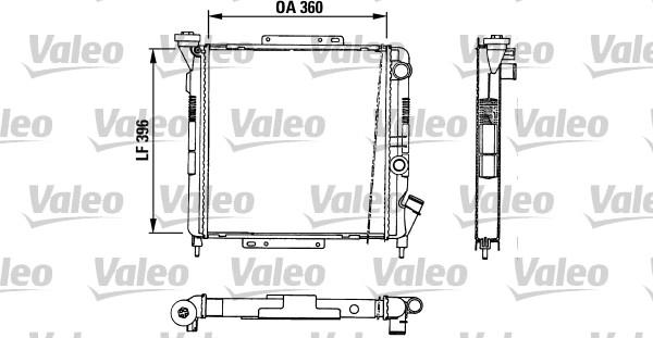 Radiateur, refroidissement du moteur - VALEO - 883729