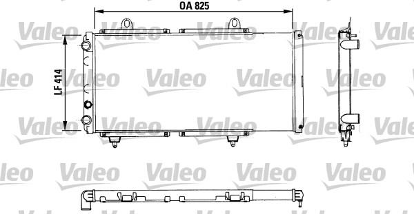 Radiateur, refroidissement du moteur - VALEO - 883765