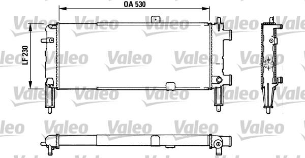 Radiateur, refroidissement du moteur - VALEO - 883767