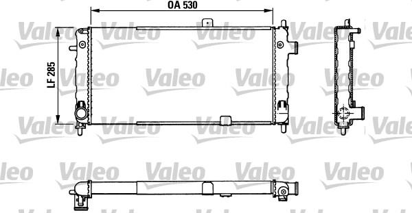 Radiateur, refroidissement du moteur - VALEO - 883771