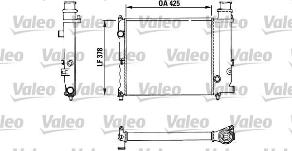 Radiateur, refroidissement du moteur - VALEO - 883774