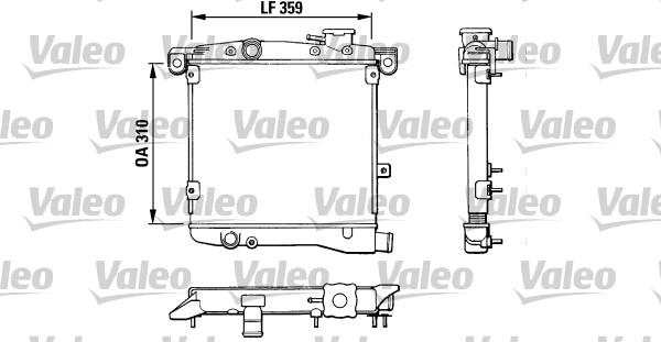 Radiateur, refroidissement du moteur - VALEO - 883799