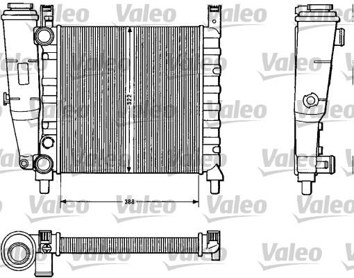 Radiateur, refroidissement du moteur - VALEO - 883812