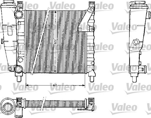 Radiateur, refroidissement du moteur - VALEO - 883813