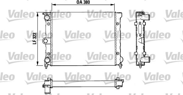 Radiateur, refroidissement du moteur - VALEO - 883818