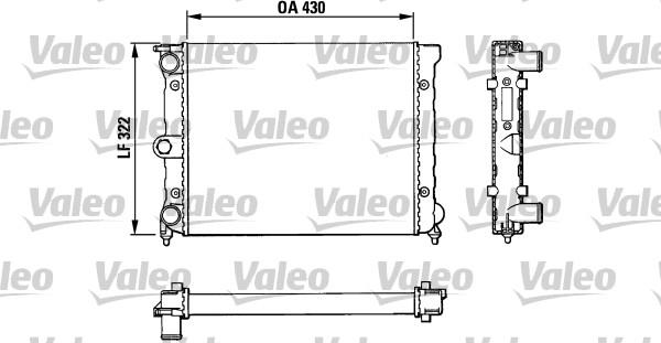 Radiateur, refroidissement du moteur - VALEO - 883819