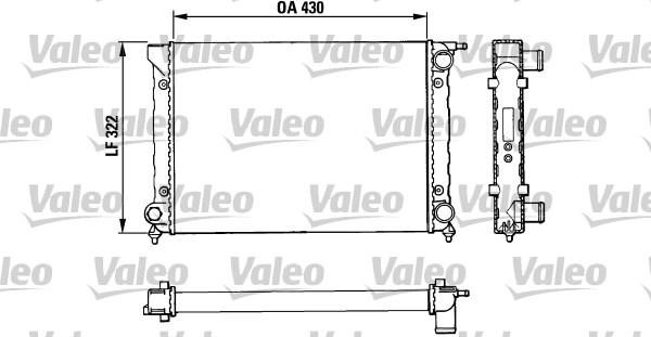 Radiateur, refroidissement du moteur - VALEO - 883820