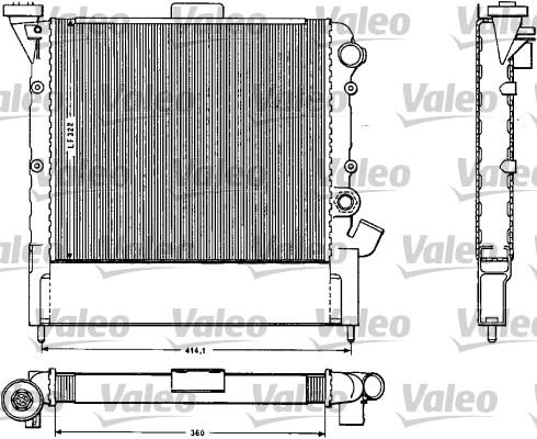 Radiateur, refroidissement du moteur - VALEO - 883852