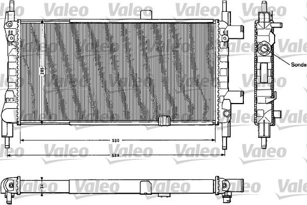 Radiateur, refroidissement du moteur - VALEO - 883856