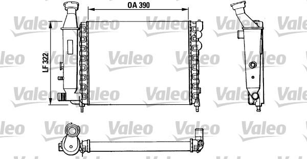 Radiateur, refroidissement du moteur - VALEO - 883866