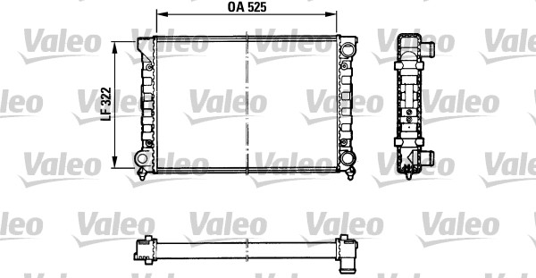 Radiateur, refroidissement du moteur - VALEO - 883870