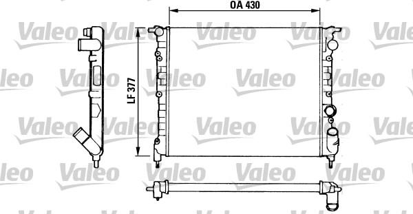 Radiateur, refroidissement du moteur - VALEO - 883875