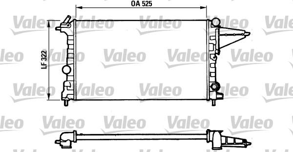 Radiateur, refroidissement du moteur - VALEO - 883877