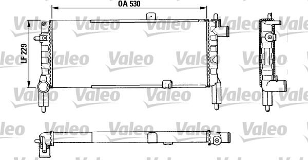 Radiateur, refroidissement du moteur - VALEO - 883920