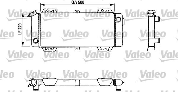 Radiateur, refroidissement du moteur - VALEO - 883954