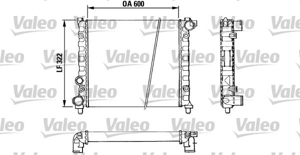 Radiateur, refroidissement du moteur - VALEO - 883958