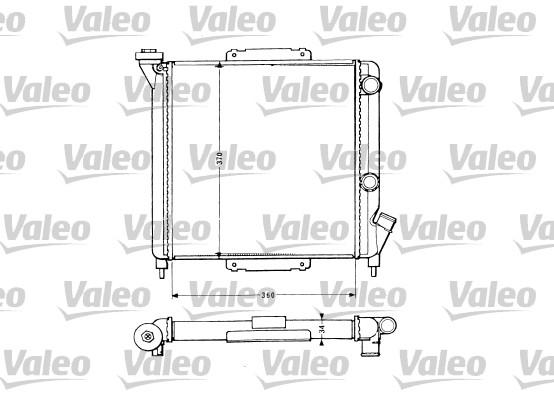 Radiateur, refroidissement du moteur - VALEO - 883959