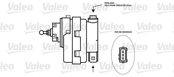 Élément d'ajustage, correcteur de portée - VALEO - 085169