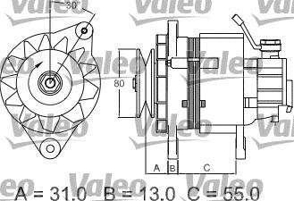 Alternateur - VALEO - 437148