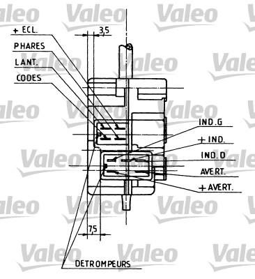 Commutateur de colonne de direction - VALEO - 251105