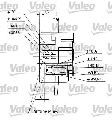 Commutateur de colonne de direction - VALEO - 251106