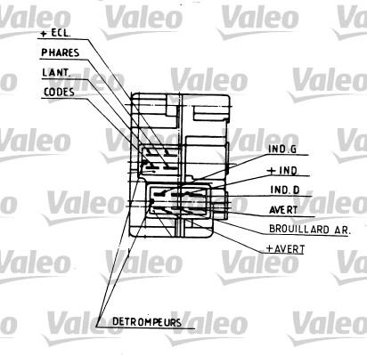 Commutateur de colonne de direction - VALEO - 251109