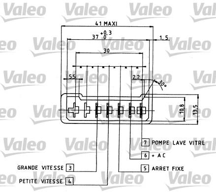 Commutateur de colonne de direction - VALEO - 251155